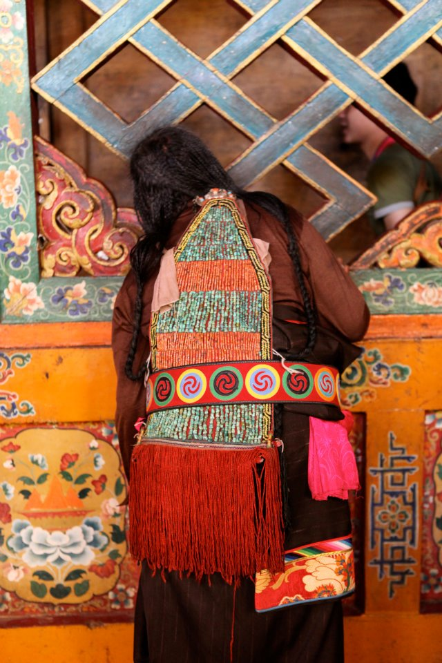 Endless Knot and Gakhyils — at Samye Monastery, Tibet